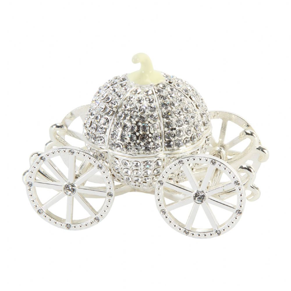 Crystal Cinderella Coach Trinket Box and Cake Topper - Juliana Treasured Trinkets Collectables